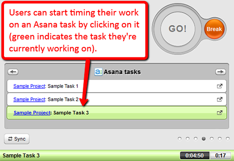 time tracking asana tasks with time doctor