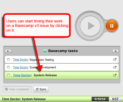 track time on basecamp 3 tasks