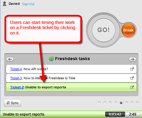track time on freshdesk ticket