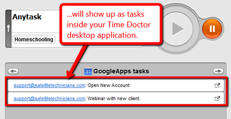 time tracking google apps tasks