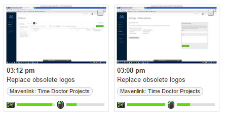 screen monitoring for time worked on mavenlink tasks