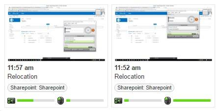 screenshots of work done on sharepoint tasks