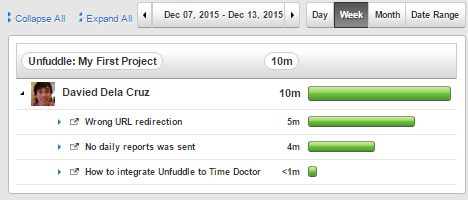 unfuddle time tracking