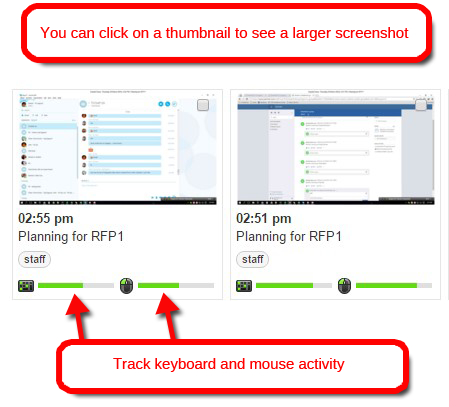 screen monitoring of yammer tasks